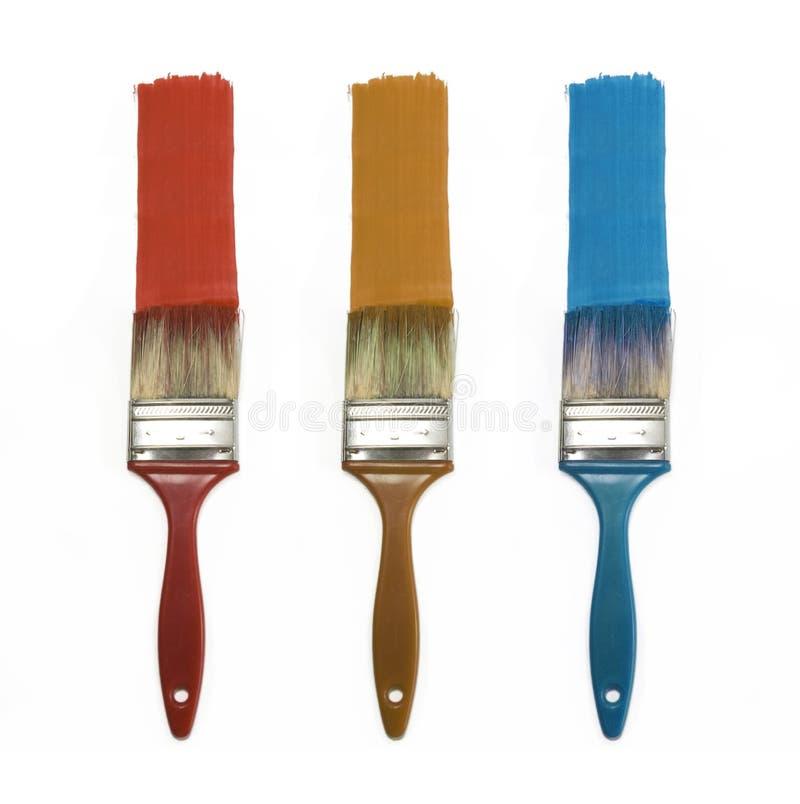 Cepillos del color fotografía de archivo libre de regalías