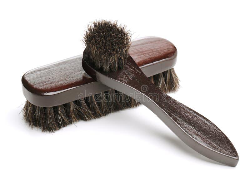 Cepillos del zapato imagen de archivo libre de regalías