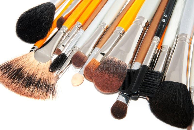 Cepillos para el maquillaje imagenes de archivo