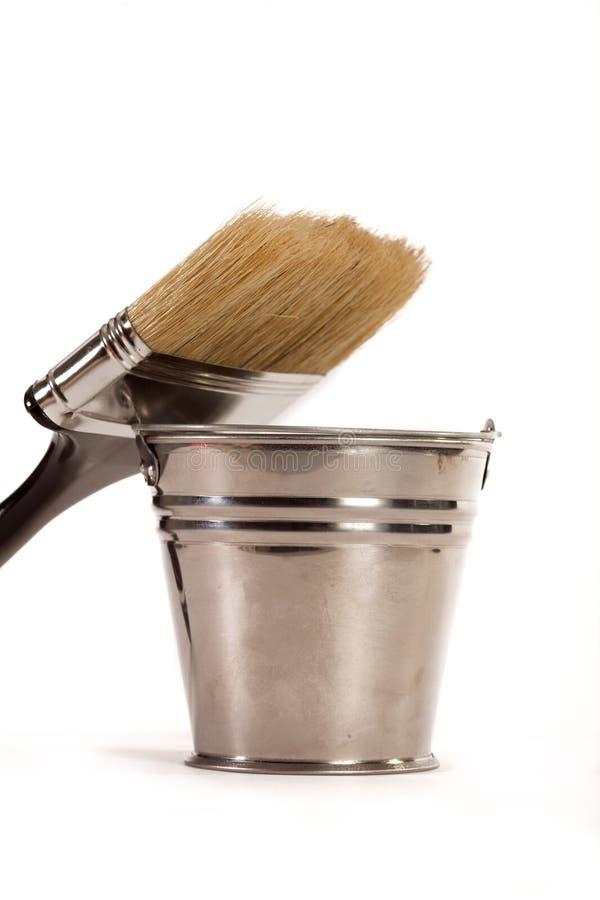 Cepillos para la pintura imagenes de archivo