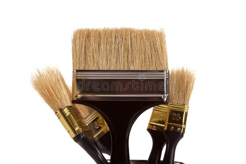 Cepillos para la pintura imagen de archivo libre de regalías