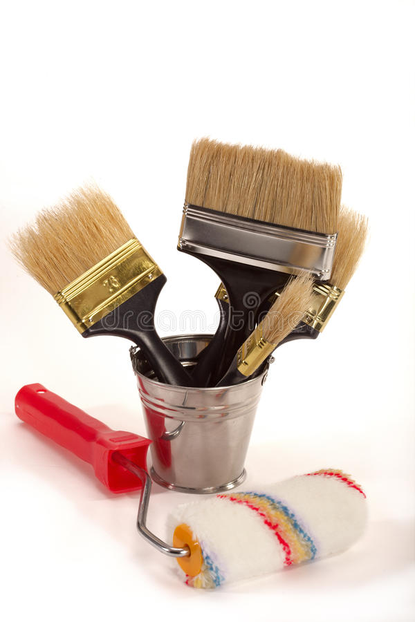 Cepillos para la pintura fotos de archivo libres de regalías