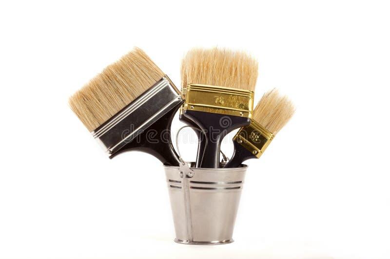 Cepillos para la pintura imágenes de archivo libres de regalías