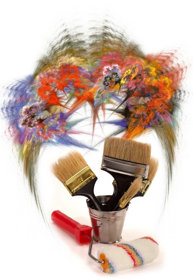 Cepillos para la pintura libre illustration