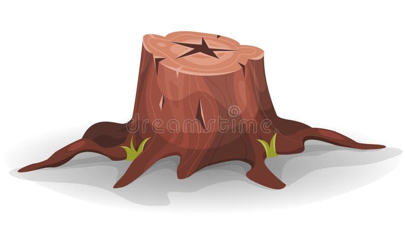 Ceppo di albero comico illustrazione di stock