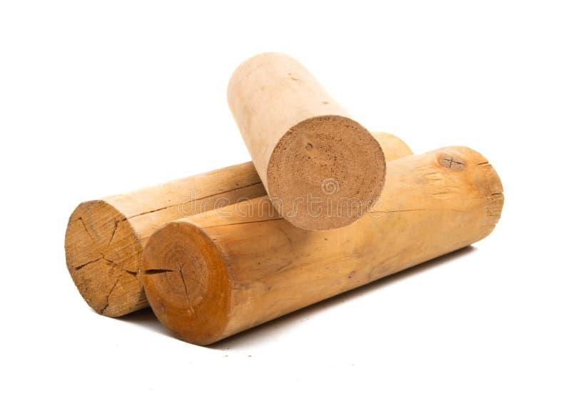 Ceppo di legno isolato immagini stock