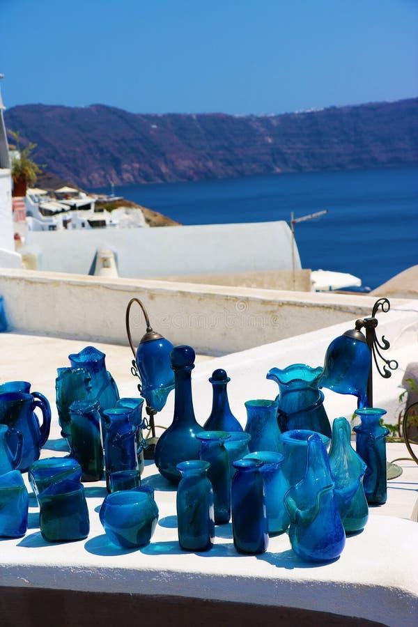 Cerámica azul imagen de archivo libre de regalías