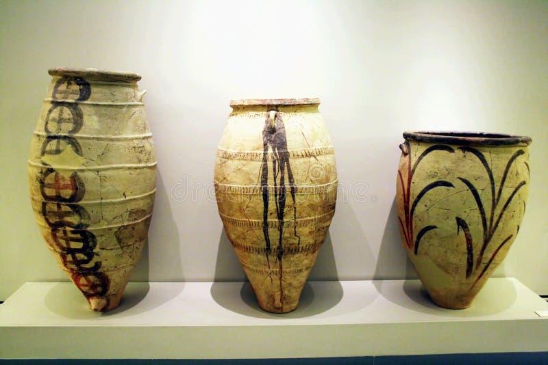 Cerámica de Minoan fotos de archivo