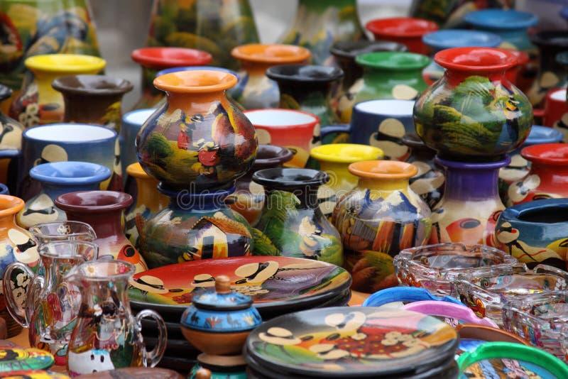Cerámica del Ecuadorian imagen de archivo libre de regalías