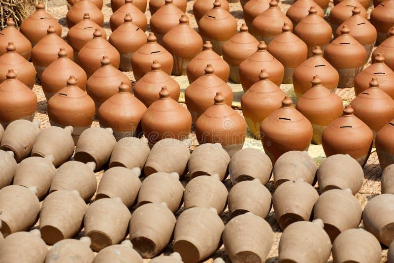 Cerámica en Nepal, cerámica imagen de archivo libre de regalías