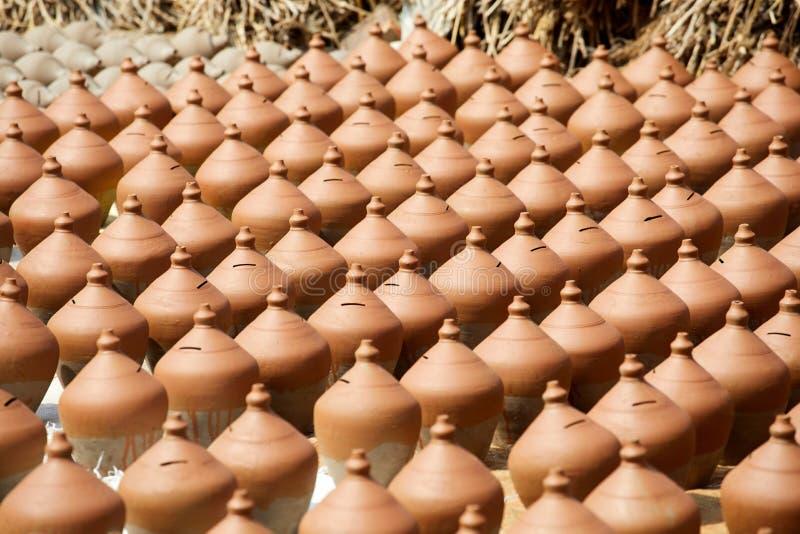 Cerámica en Nepal, cerámica fotografía de archivo