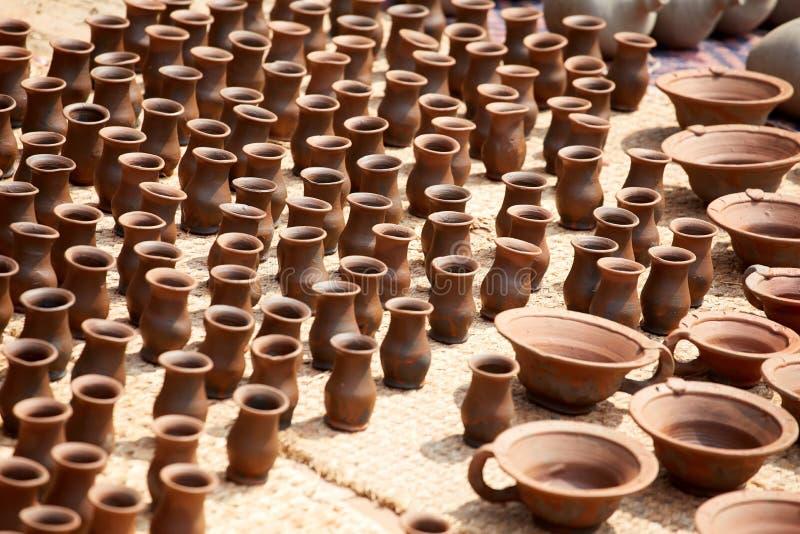 Cerámica en Nepal, cerámica foto de archivo