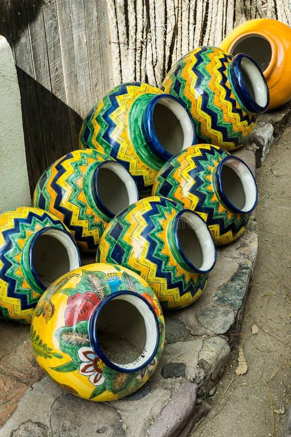Cerámica mexicana tradicional fotos de archivo