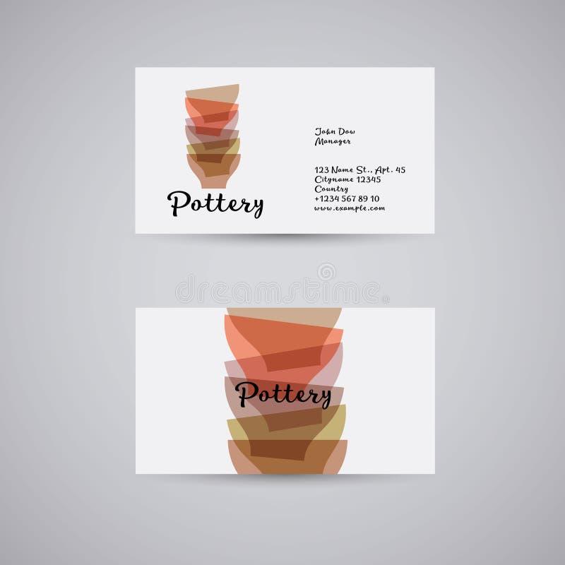 Cerámica o una tienda de utensilios Las manos hicieron la cerámica Tazones de fuente multicolores libre illustration