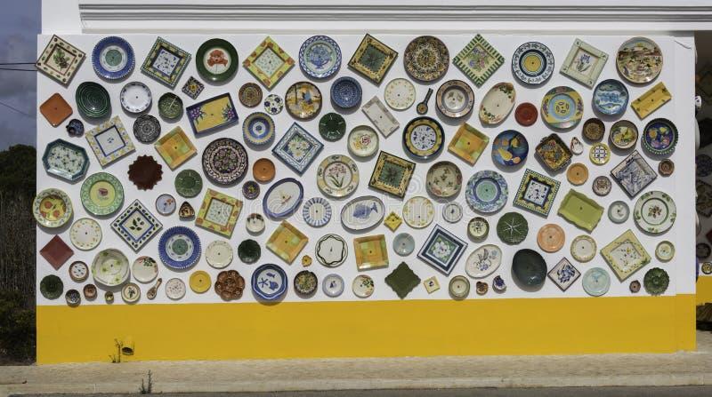 Cerámica portuguesa típica en los sagres Portugal fotografía de archivo