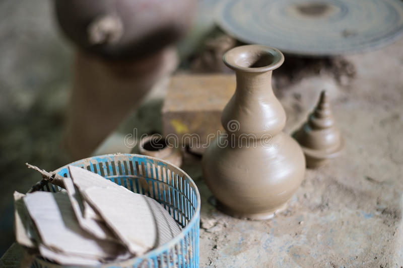 Cerámica tradicional tailandesa de la arcilla fotografía de archivo