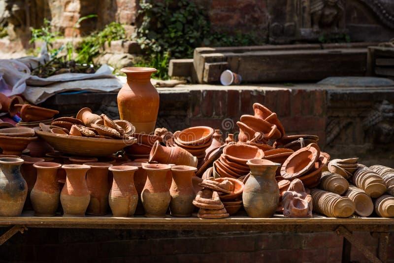 Cerámica y cerámica en Nepal fotos de archivo libres de regalías