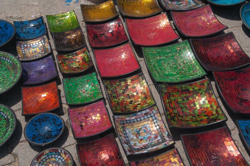 Cerâmica árabe tradicional fotografia de stock