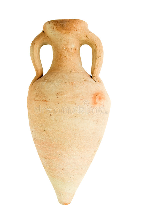 Cerâmica antiga - amphora imagens de stock