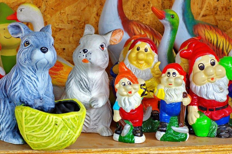 Cerâmica colorida fotografia de stock