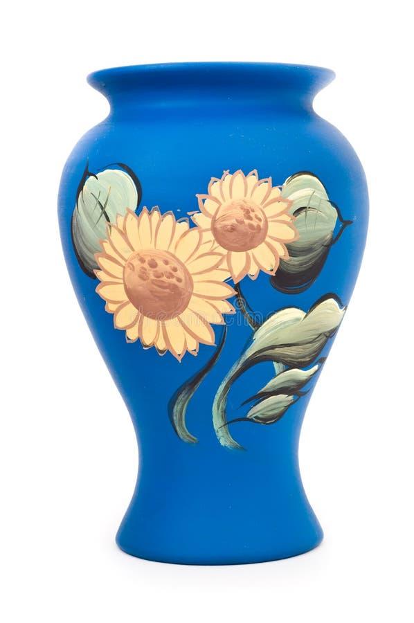 Cerâmica com pintura do girassol imagens de stock