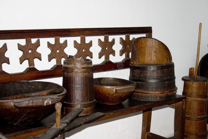 Cerâmica de madeira foto de stock