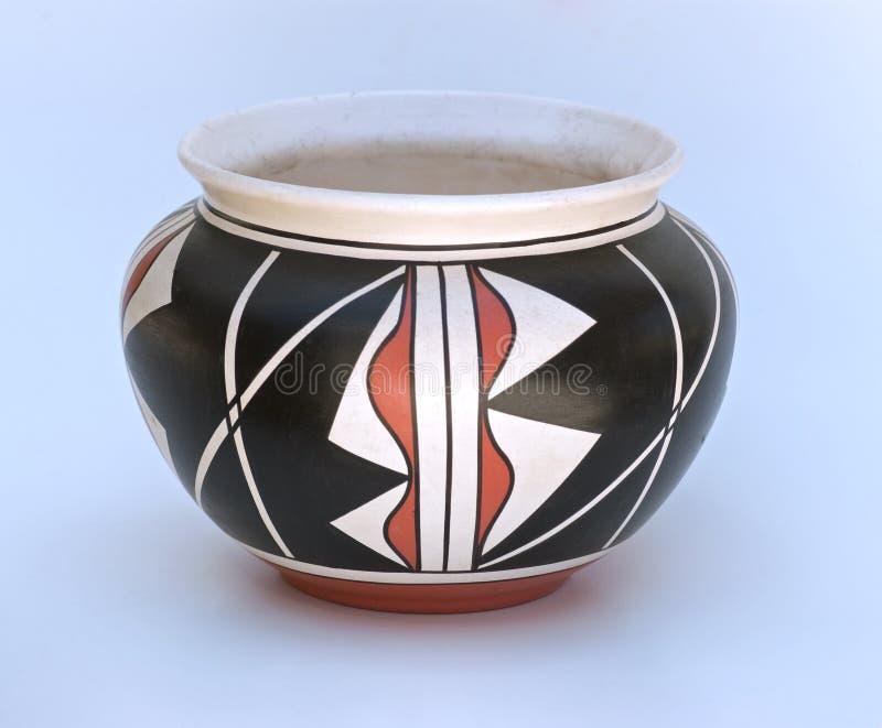 Cerâmica do Indian do nativo americano fotografia de stock royalty free