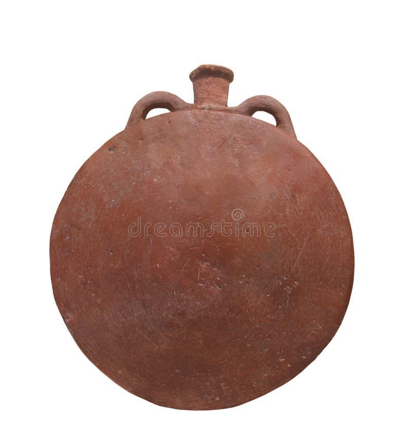 Cerâmica egípcia antiga isolada. fotografia de stock