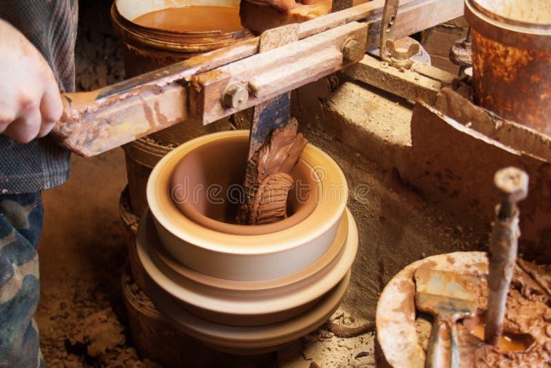 Cerâmica, fábrica velha fotografia de stock