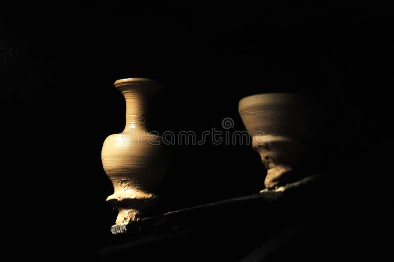 Cerâmica feito a mão imagens de stock