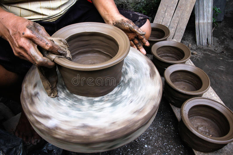 Cerâmica & x28; Gerabah& x29; Fatura fotos de stock royalty free