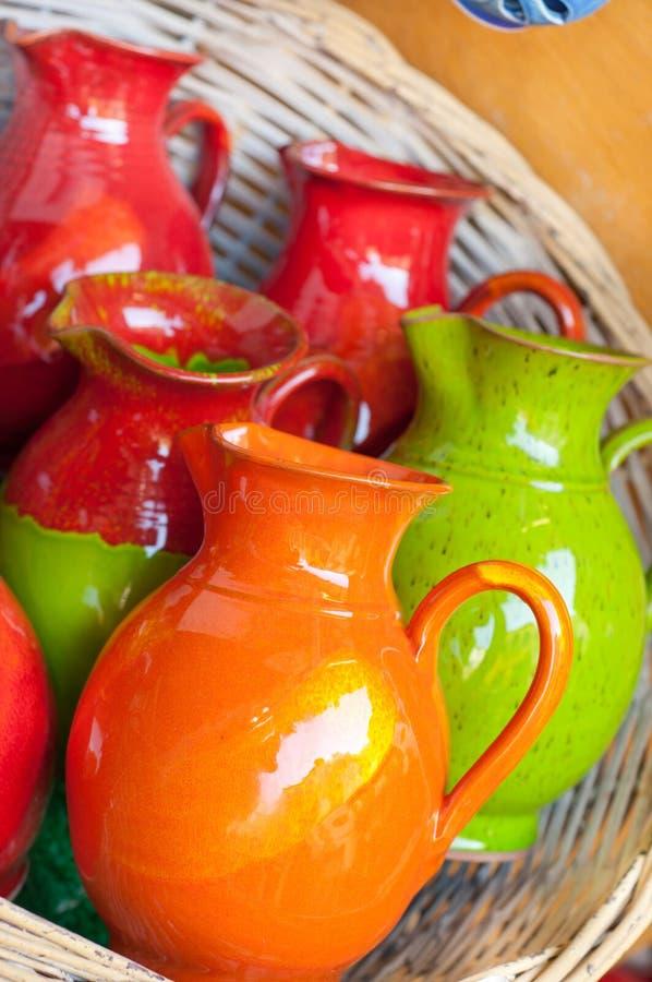 Cerâmica grega fotografia de stock