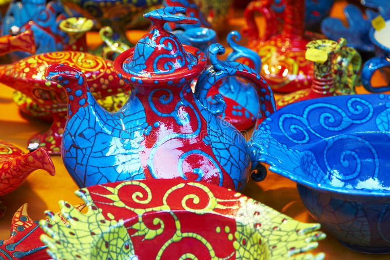 Cerâmica húngara tradicional imagem de stock