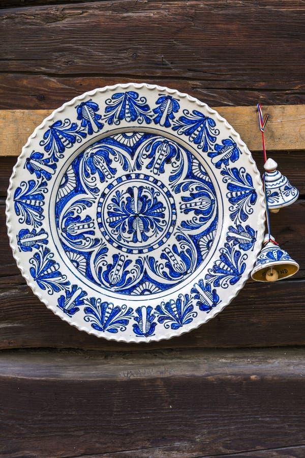 Cerâmica pintada tradicional feito a mão imagens de stock royalty free