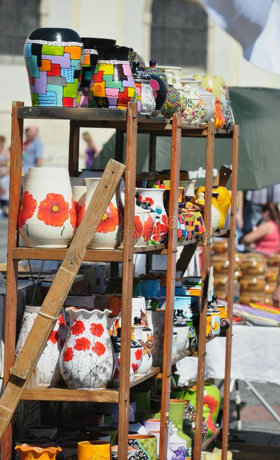 Cerâmica romena imagens de stock
