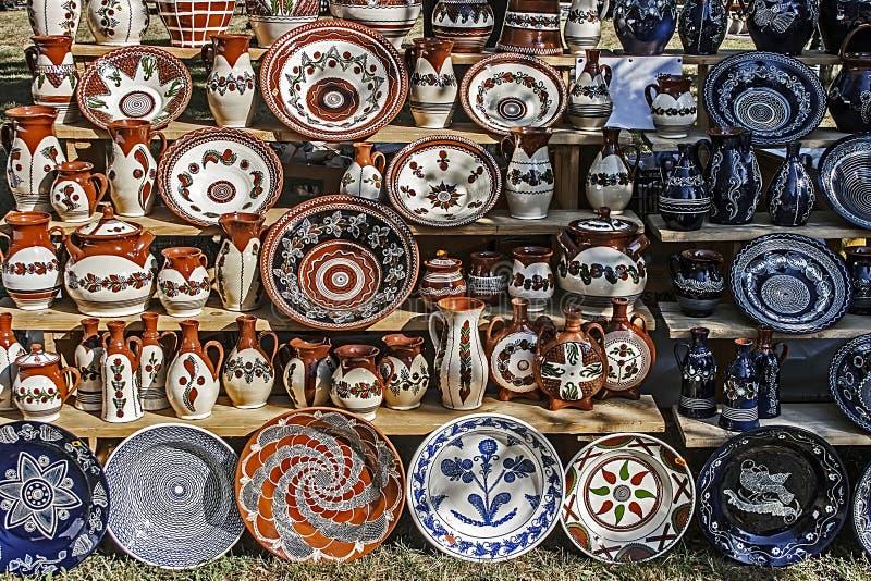 Cerâmica romena tradicional 3 imagem de stock royalty free