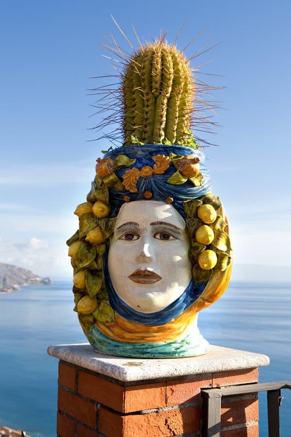Cerâmica siciliano imagem de stock