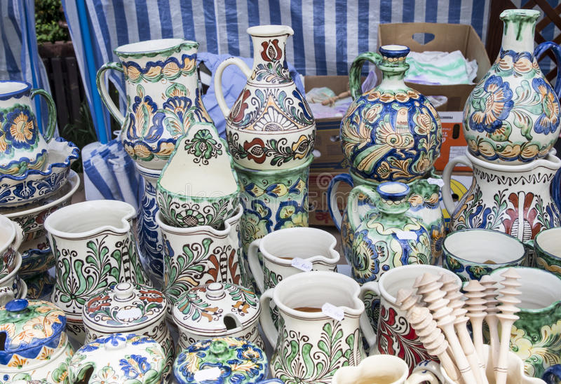 Cerâmica tradicional romena fotos de stock royalty free