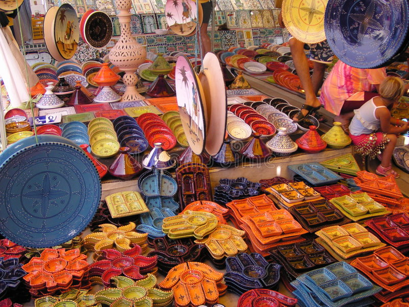 Cerâmica tunisina imagens de stock royalty free