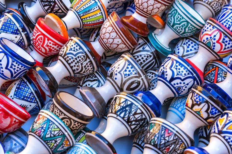 Cer?mica marroqu? en Essaouira imagen de archivo libre de regalías