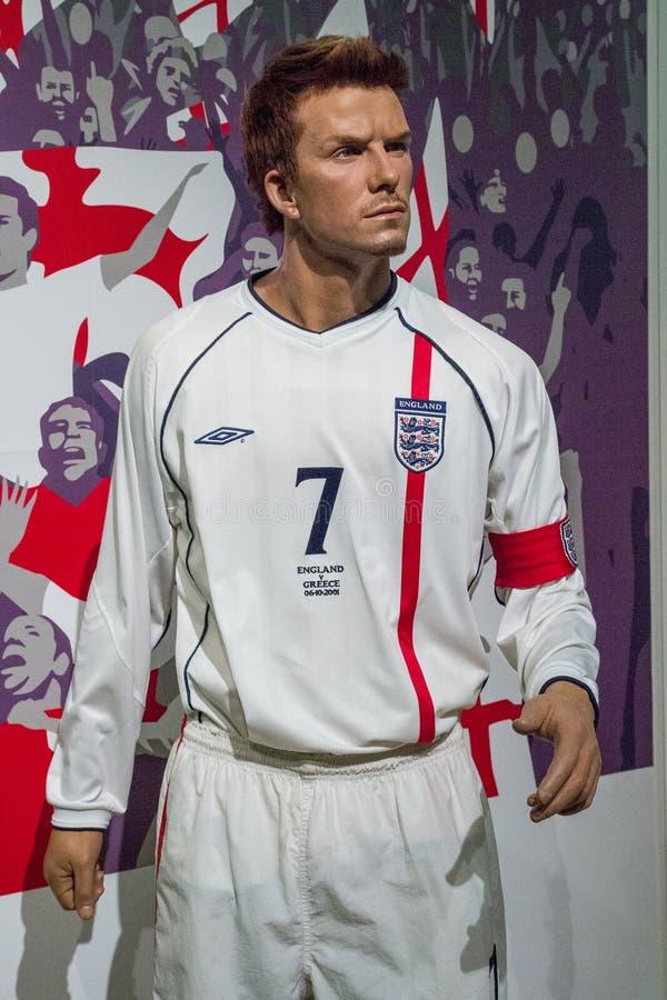 A cera de David Beckham imagens de stock
