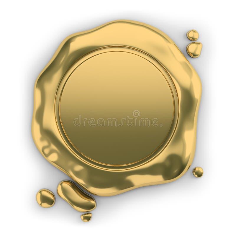 Cera del sello de oro libre illustration