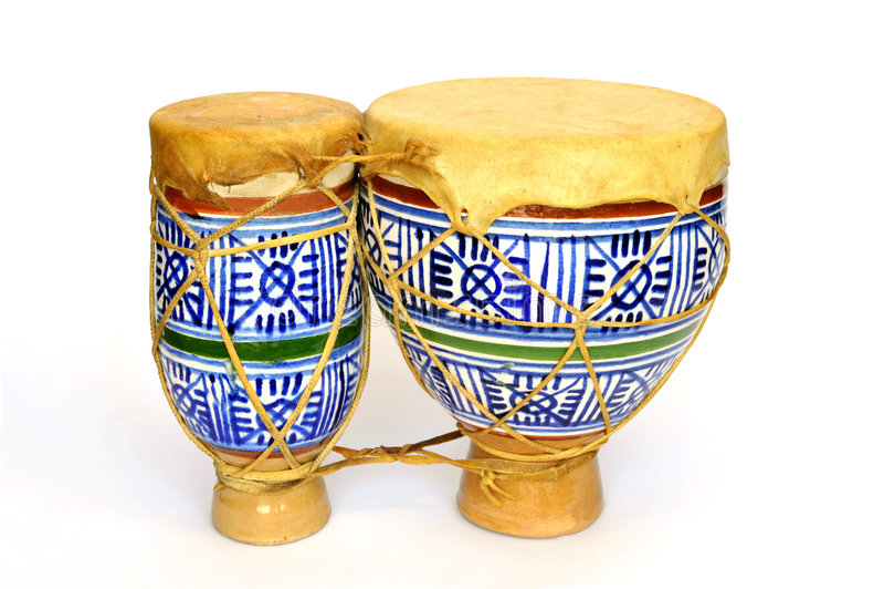Ceramic bongos stock photography