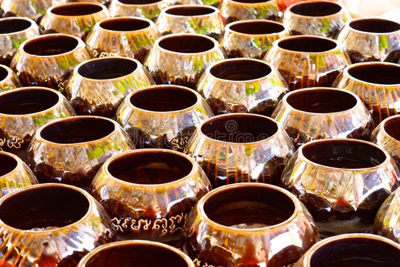 Ceramic bowel. Hundred of ceramic bowels,shallow focus stock images