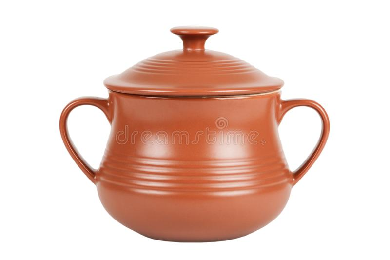 Ceramic Clay Pot for Cooking stock image