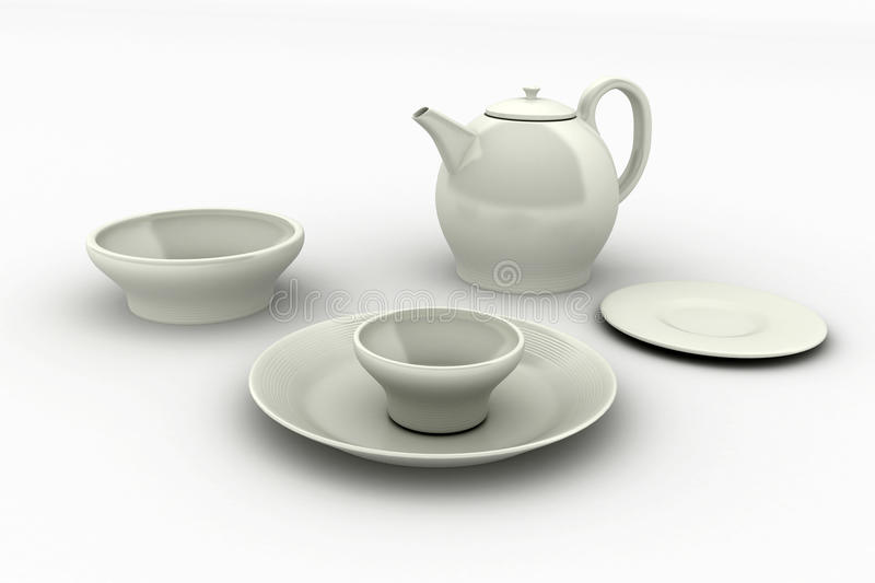 Download Ceramic cookware stock illustration. Image of silverware - 13076803