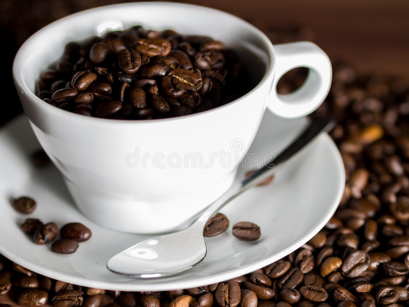 Ceramic cup of coffee royalty free stock images