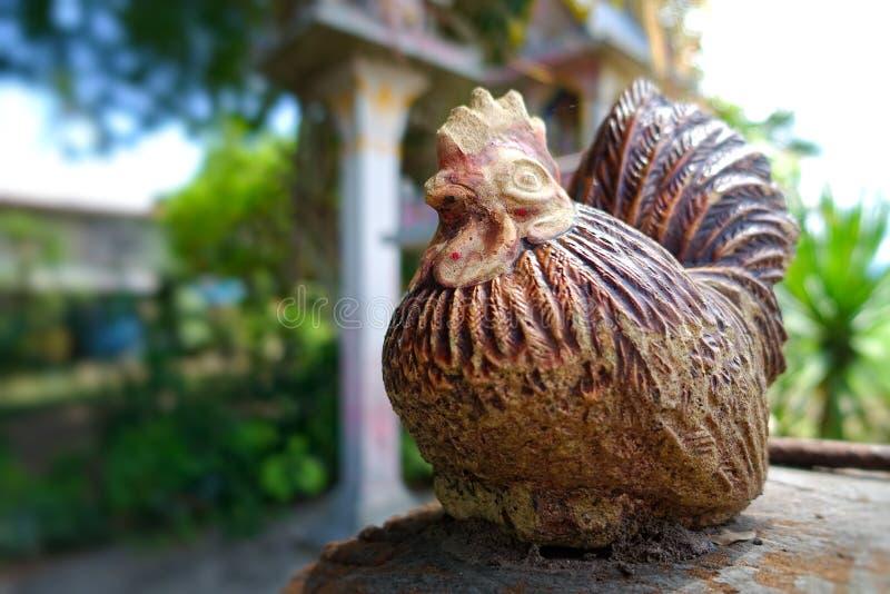 Ceramic decorative chicken stock image