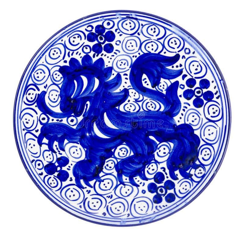 Ceramic Dish Blue royalty free stock images