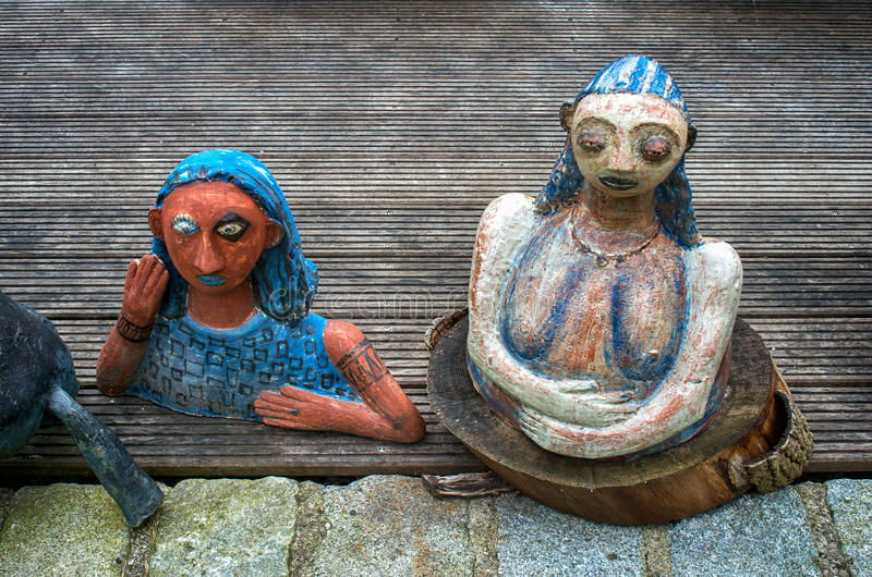 Ceramic dolls and pottery royalty free stock photo